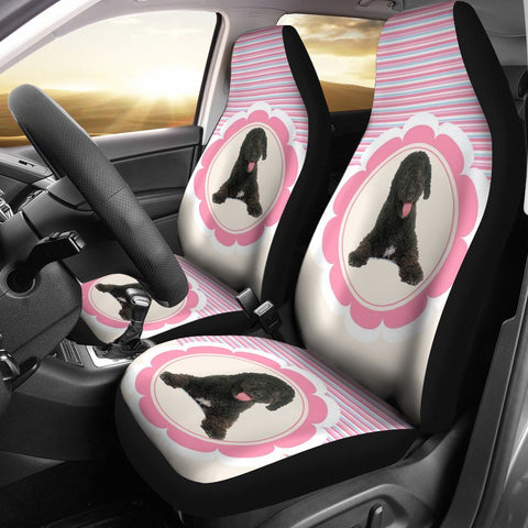 Cute Spanish Water Dog Print Car Seat Covers-Free Shipping