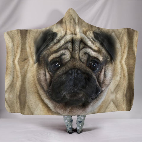 Amazing Pug Dog Print Hooded Blanket-Free Shipping