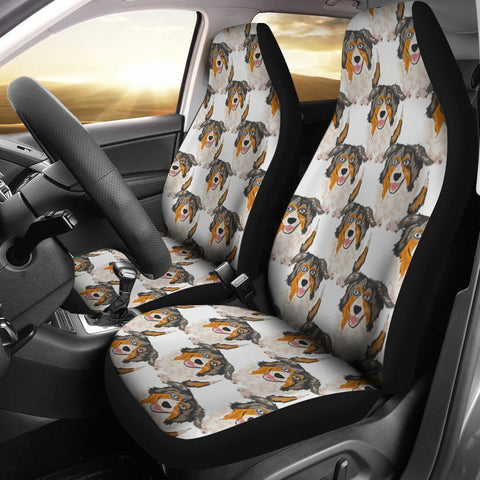 Australian Shepherd Dog Pattern Print Car Seat Covers-Free Shipping