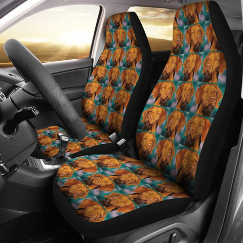 Wirehaired Vizsla Dog Pattern Print Car Seat Covers-Free Shipping
