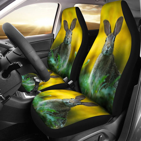 Rabbit Nature Art Print Car Seat Covers-Free Shipping