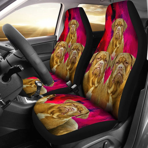 Bordeaux Mastiff Print Car Seat Covers-Free Shipping