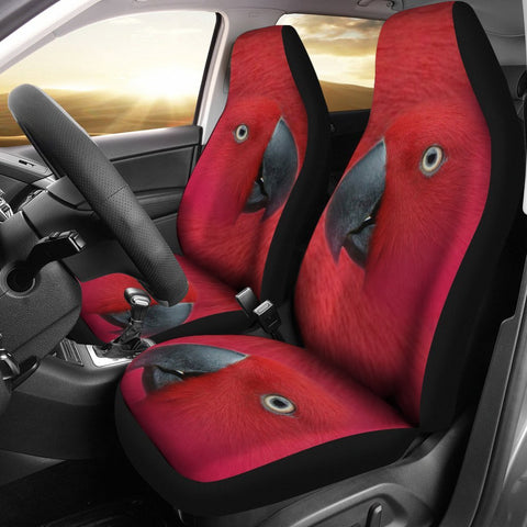 Red Mini-macaw Parrot Print Car Seat Covers-Free Shipping
