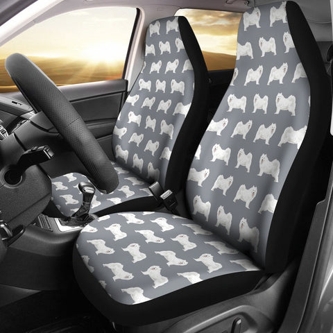 Samoyed Dog Pattern Print Car Seat Covers-Free Shipping