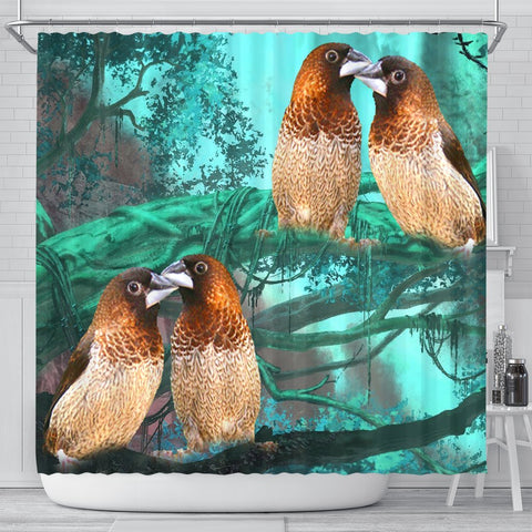 Society Finch Bird Print Shower Curtains-Free Shipping