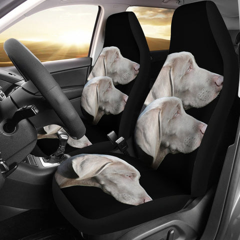 Weimaraner Dog Art Print Car Seat Covers-Free Shipping
