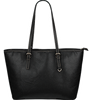 Yorkshire Print Small Leather Tote Bag-Express Shipping