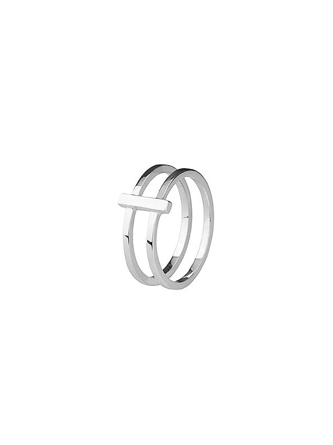 ROW DOUBLE STACKING RING