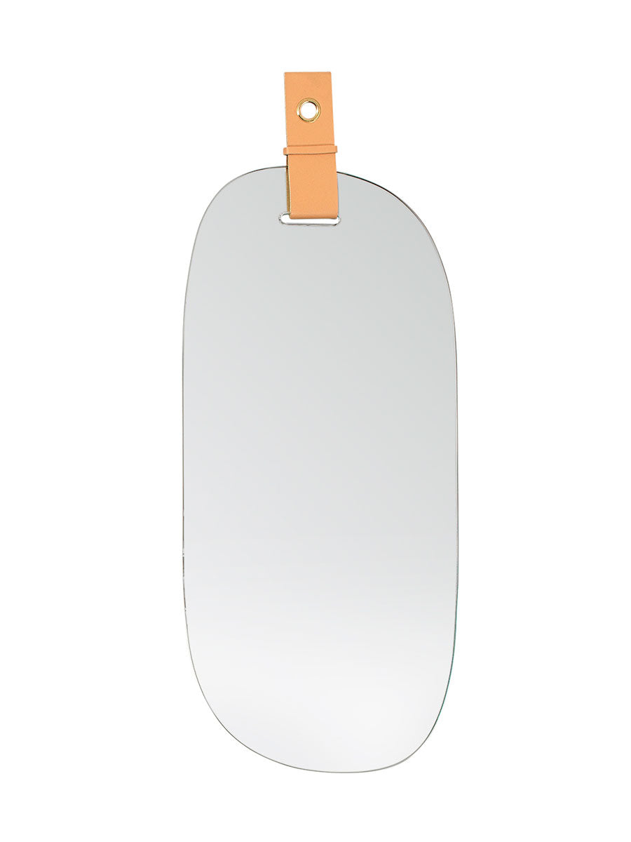 ART MIRROR W/ LEATHER STRAP - F