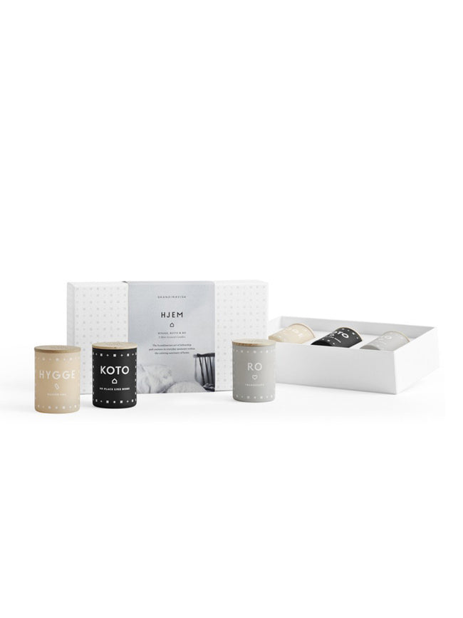 GIFT SET / TRIO OF CANDLES - HJEM