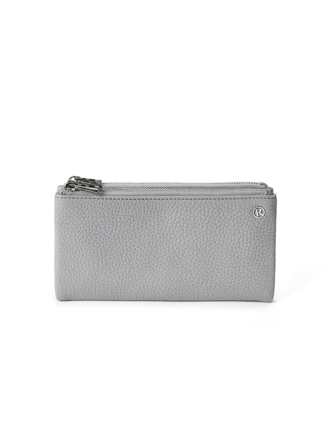 FOLD OVER PURSE - GREY/SILVER