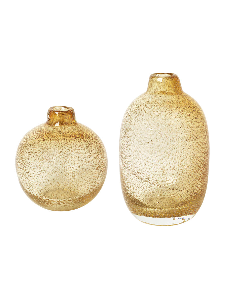 RAKEL GLASS VASES SET OF 3