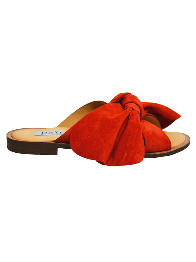 RED ROSSO BOW SANDALS