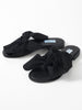 BLACK ROSSO BOW SANDALS