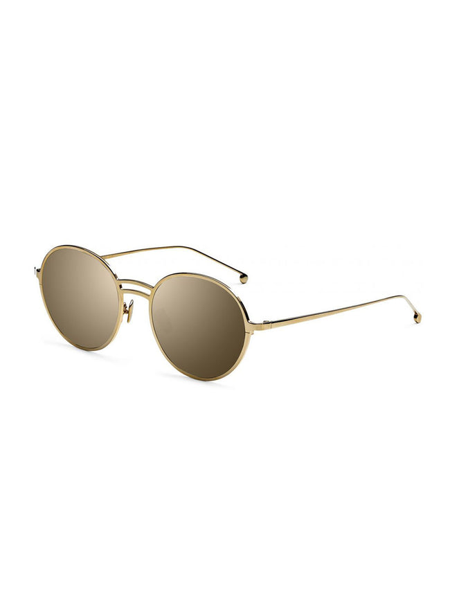 YAEL ROUND SUNGLASSES - GOLD