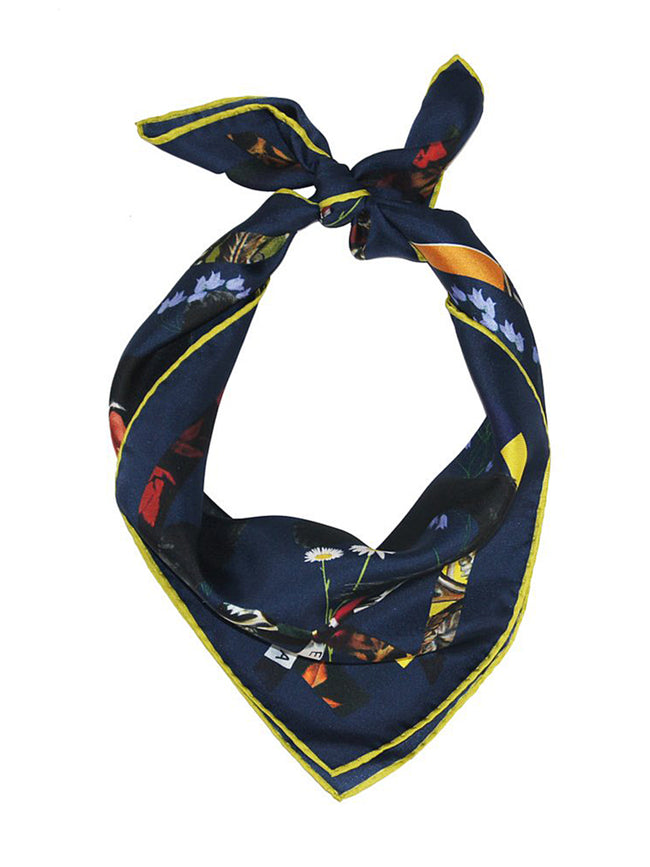 CAT SAUVAGE SILK SCARF