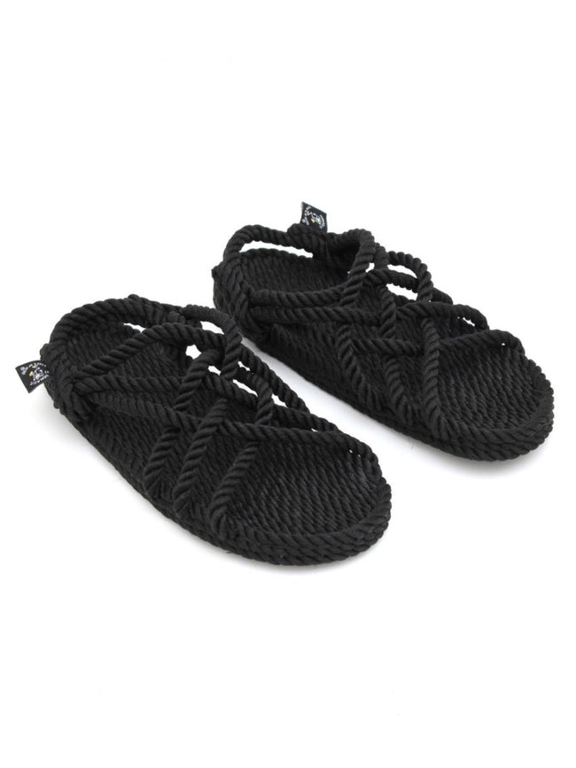JC ROPE SANDALS - BLACK