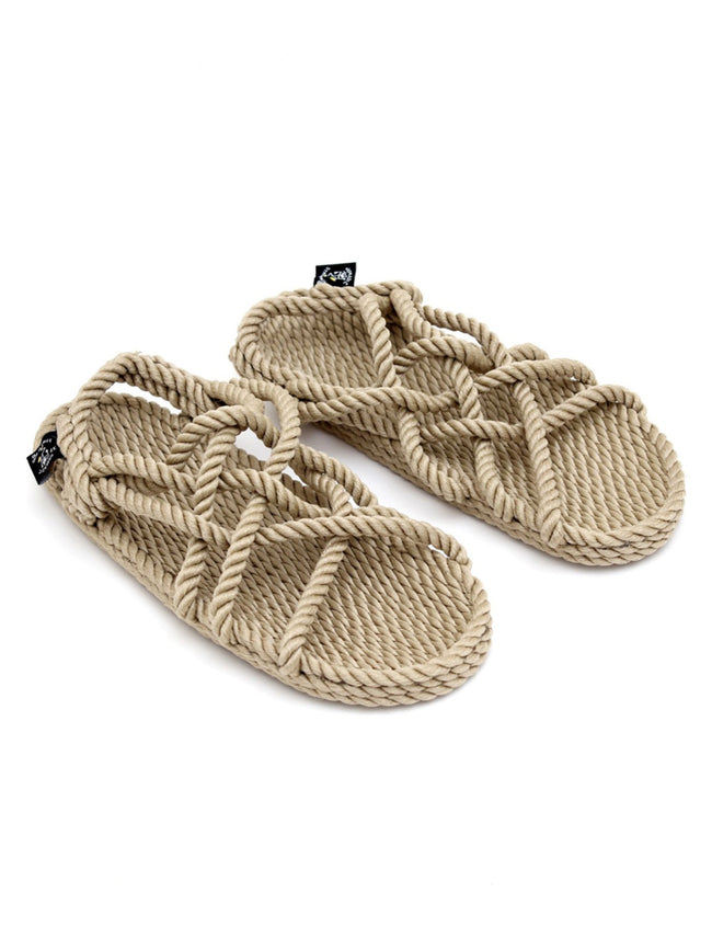 JC ROPE SANDALS - CAMEL