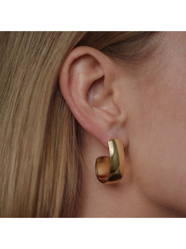 ANNEMARIE DROP EARRINGS - GOLD POLISHED