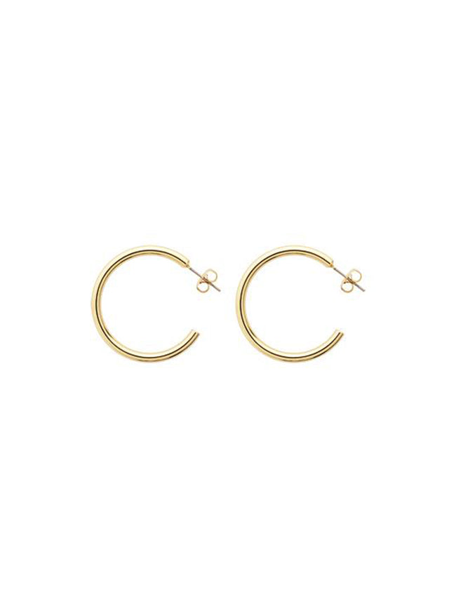 ANNORA HOOP EARRINGS - GOLD POLISHED