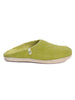 WOOL SLIPPERS - LIME