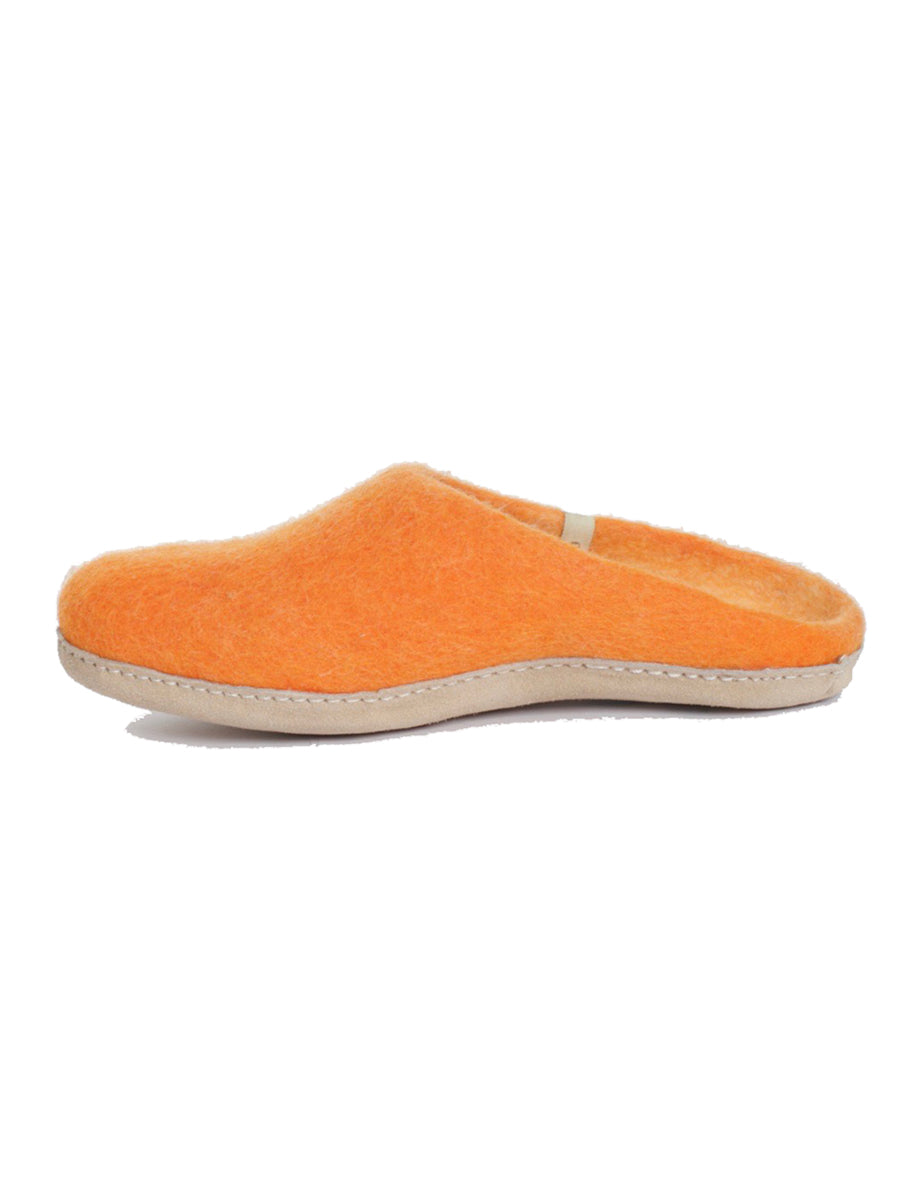 WOOL SLIPPERS - ORANGE