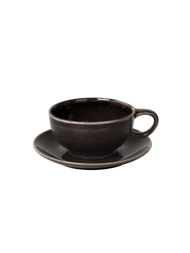 CUP W/SAUCER - NORDIC COAL
