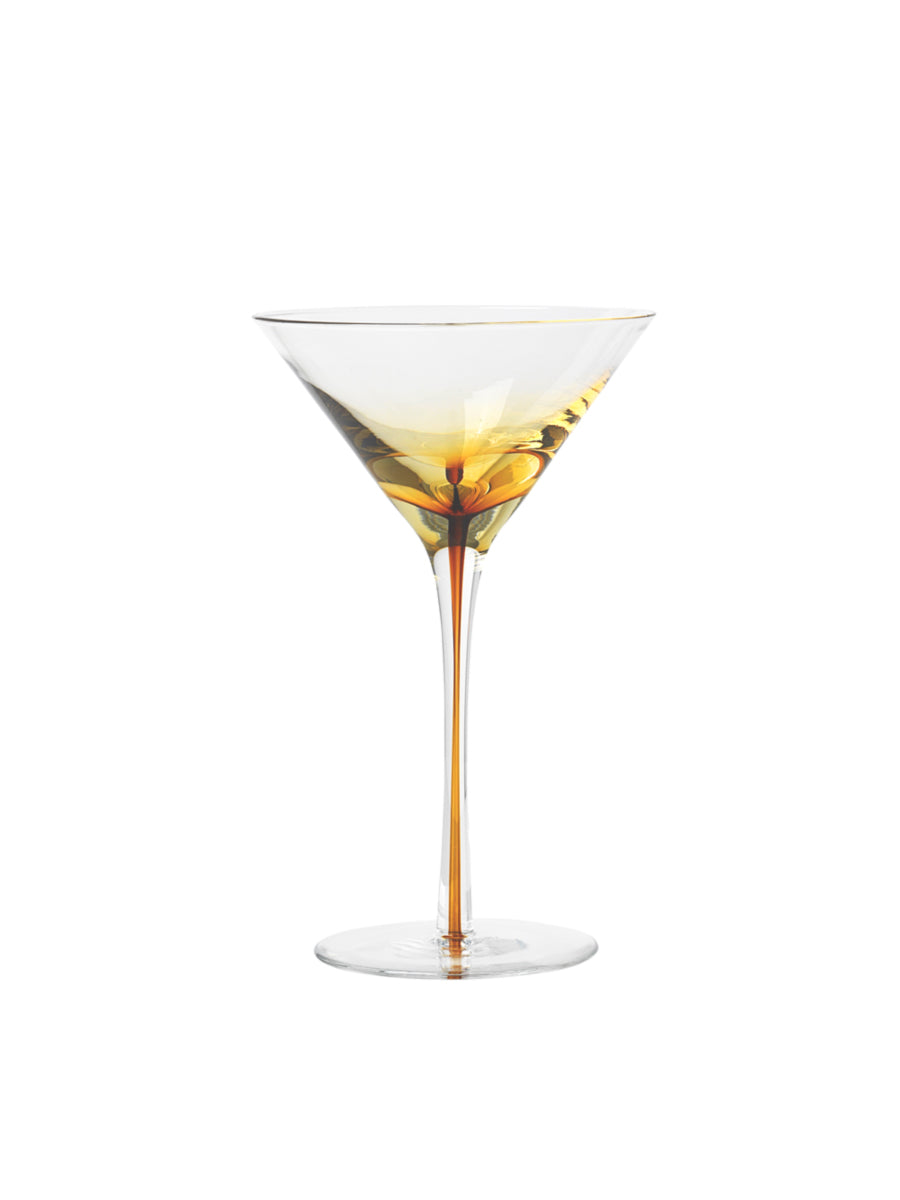 MARTINI GLASSES SET OF 4 - AMBER