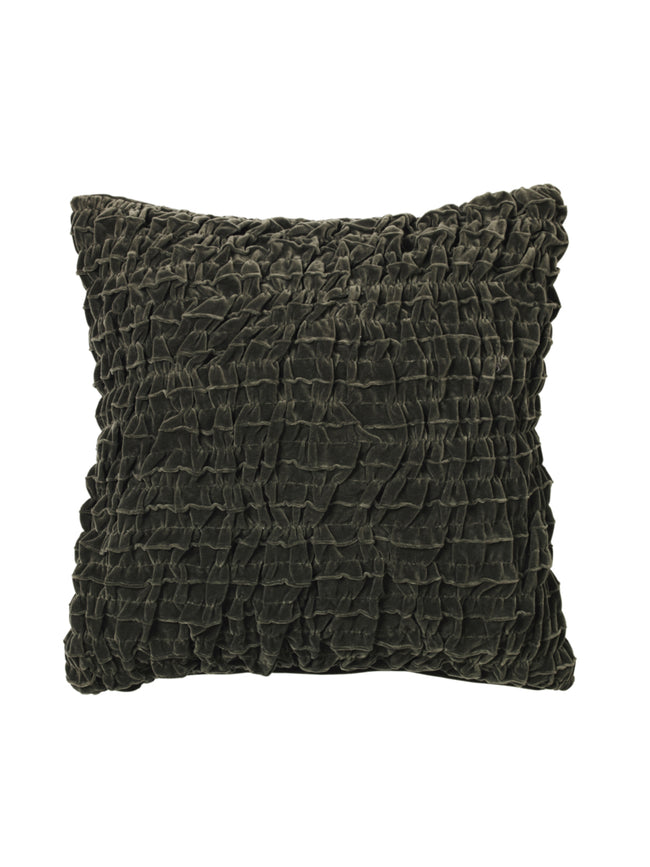 KROLL RUCHED VELVET CUSHION
