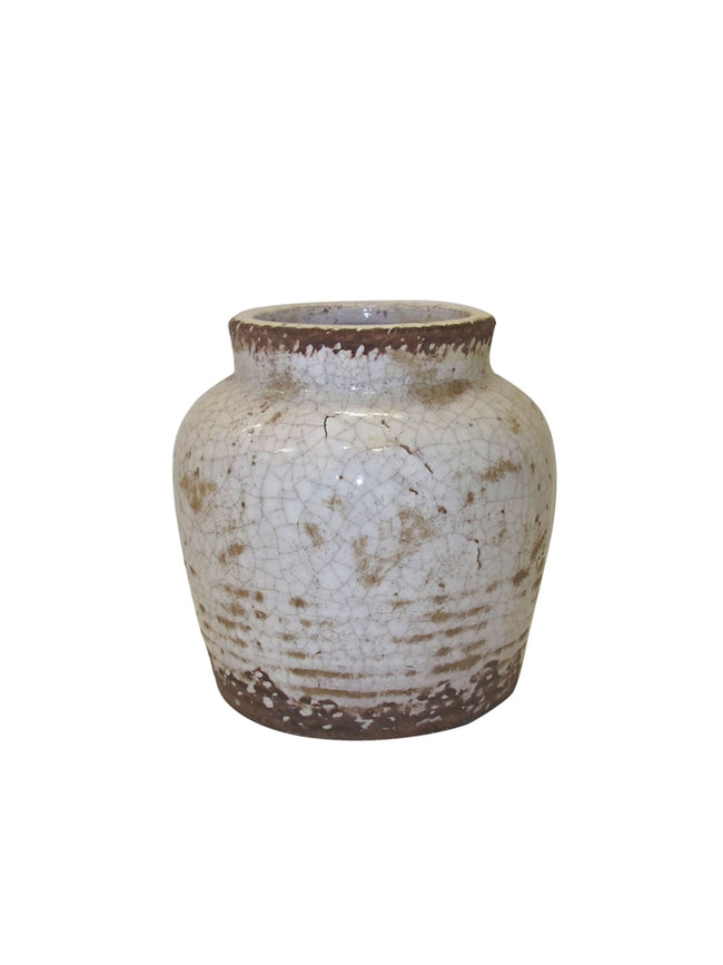 RUSTIC WHITE POT