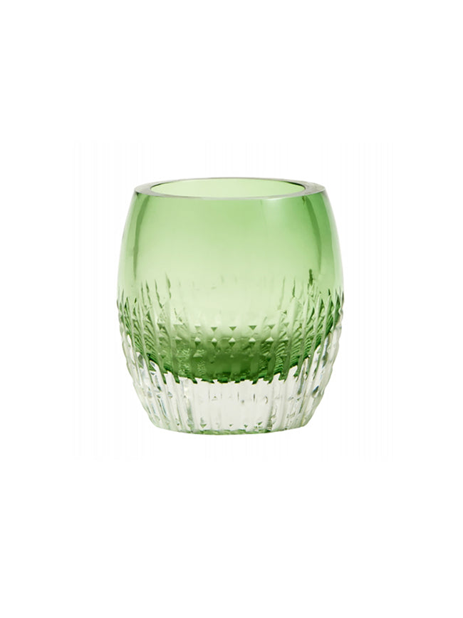 COLOURED GLASS T-LIGHT VOTIVE - GREEN