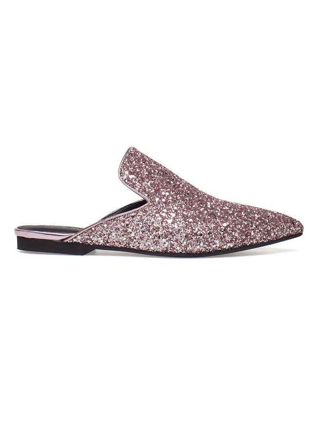 GLITTER LOAFERS