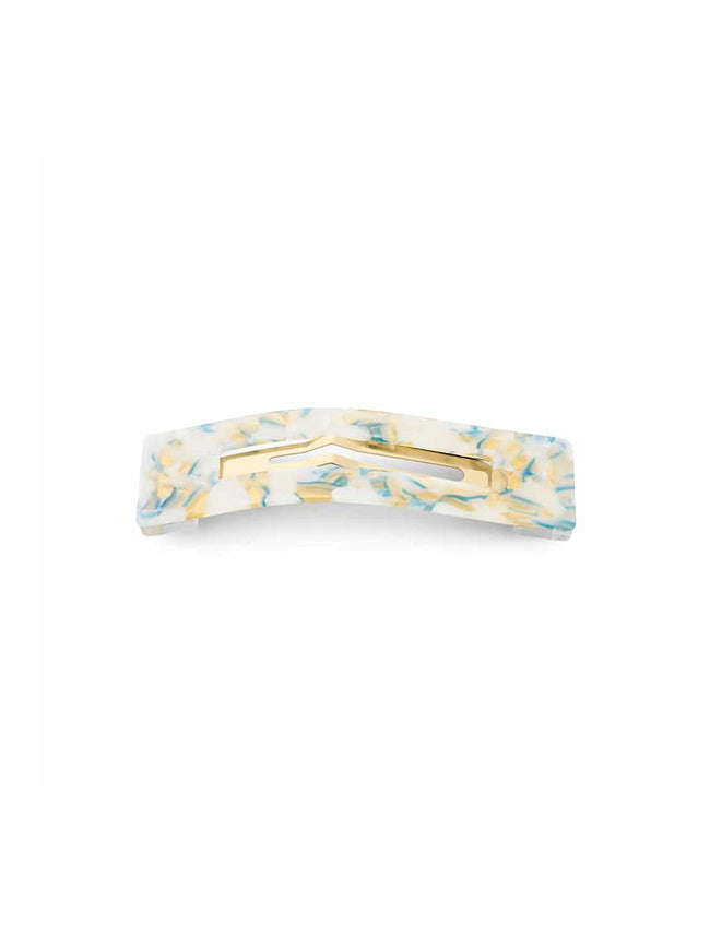 AMALIE MARBLED HAIR CLIP - WHITE MULTI