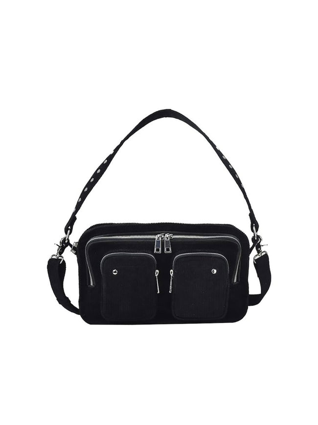 ELLIE CORDUROY BAG - BLACK