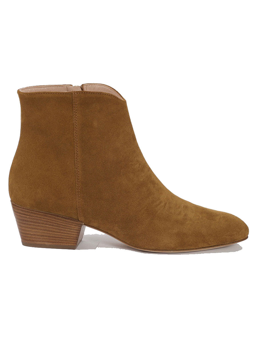 LOW WESTERN TAN BOOTS