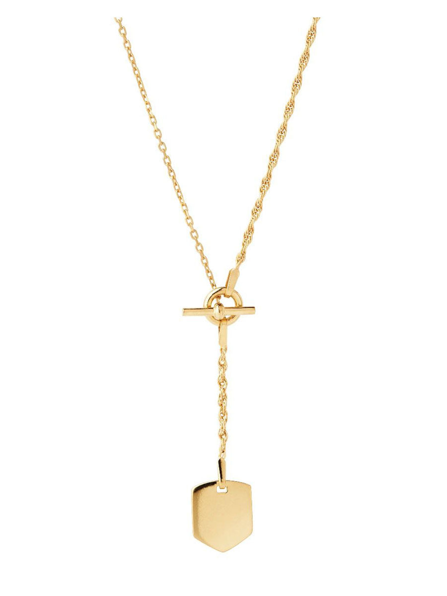 OLIVIA INTERLINKED CONTRAST CHAIN NECKLACE