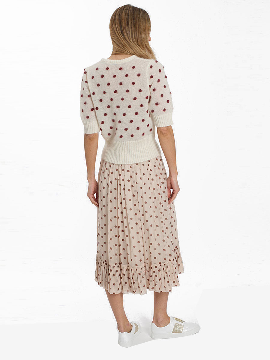 SELDA SPOTTY TIE WAIST SKIRT