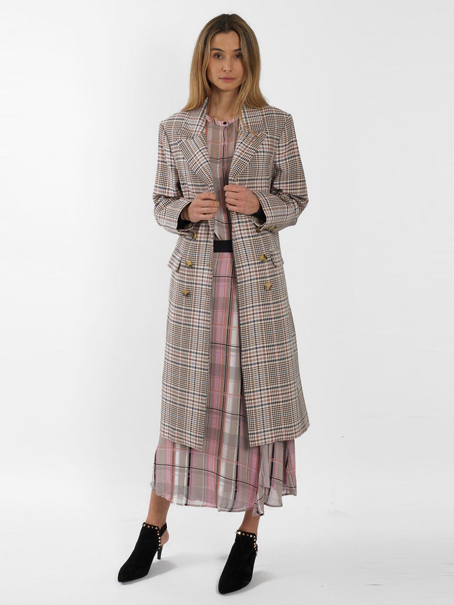 ELISABETH TAILORED CHECK COAT