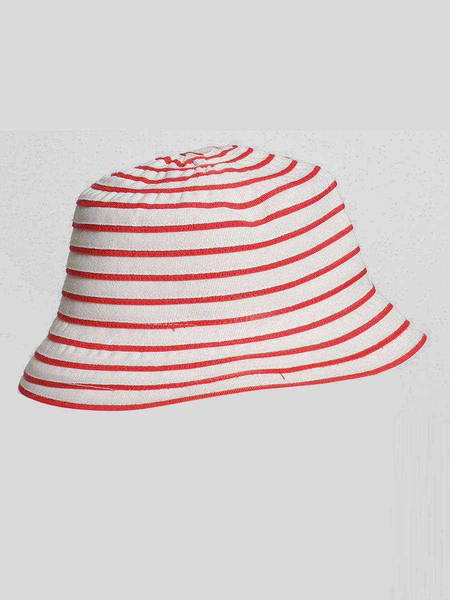 ANGELICA BUCKET HAT RED STRIPE
