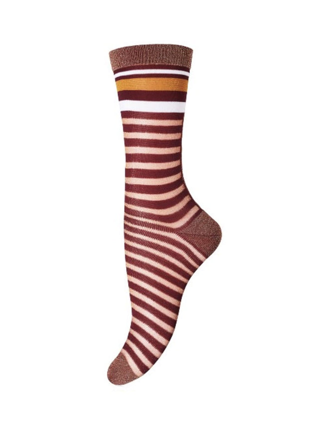 WENDY ANKLE SOCKS - BURGUNDY