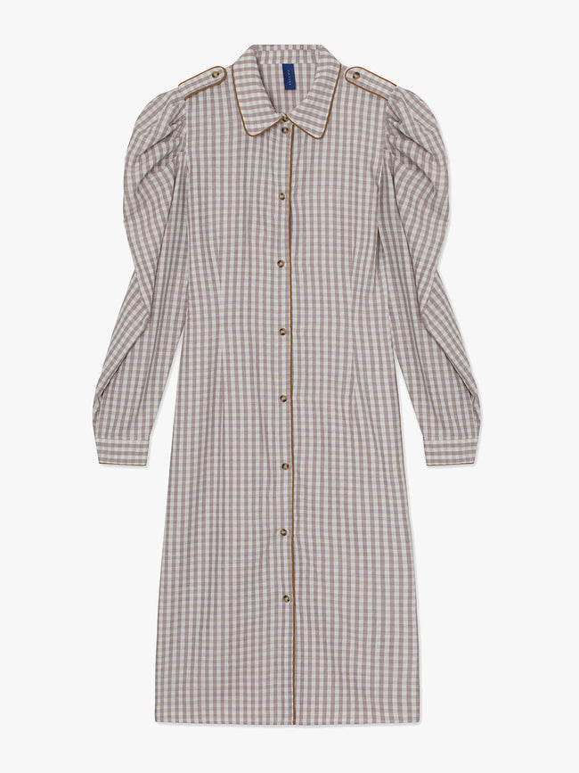 ALISHA SHIRT DRESS - WOOD