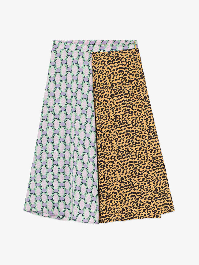 ULITHA PRINTED SKIRT - CANARY