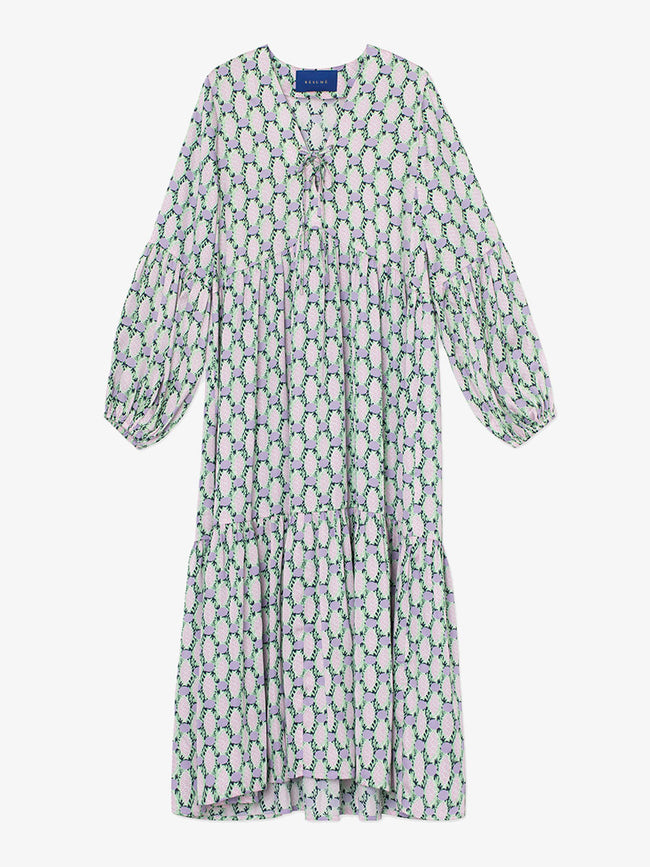 ULLI SMOCK DRESS - MINT GREEN