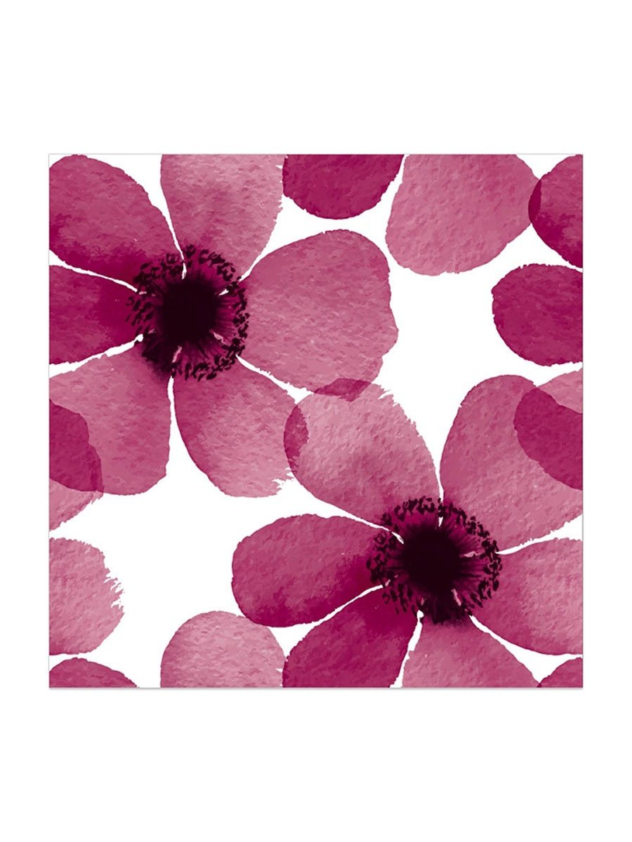 PURPLE FLOWER NAPKINS