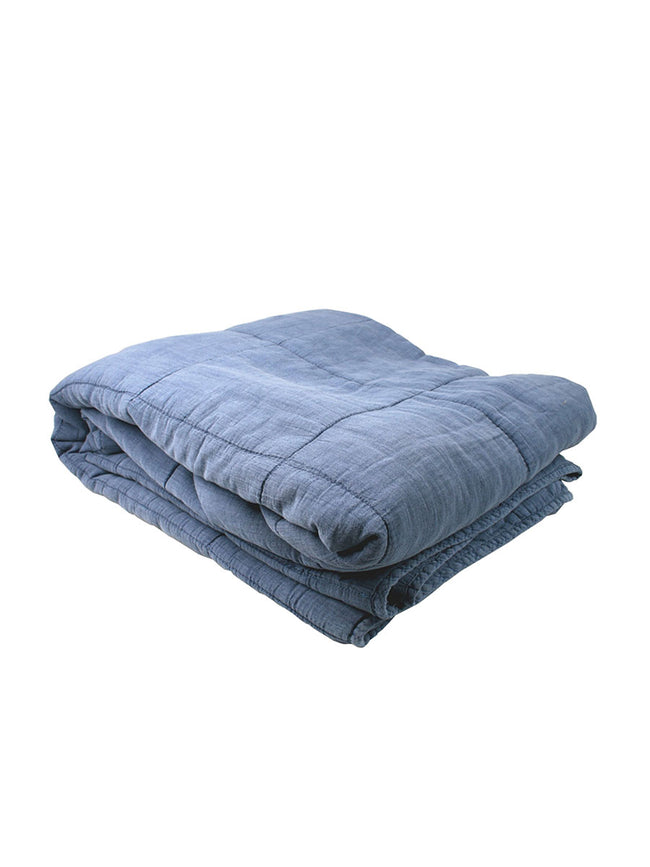LARGE COTTON QUILT BLUE