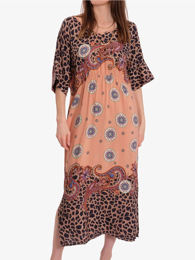 ASMINE PRINTED DRESS - LEO MIX