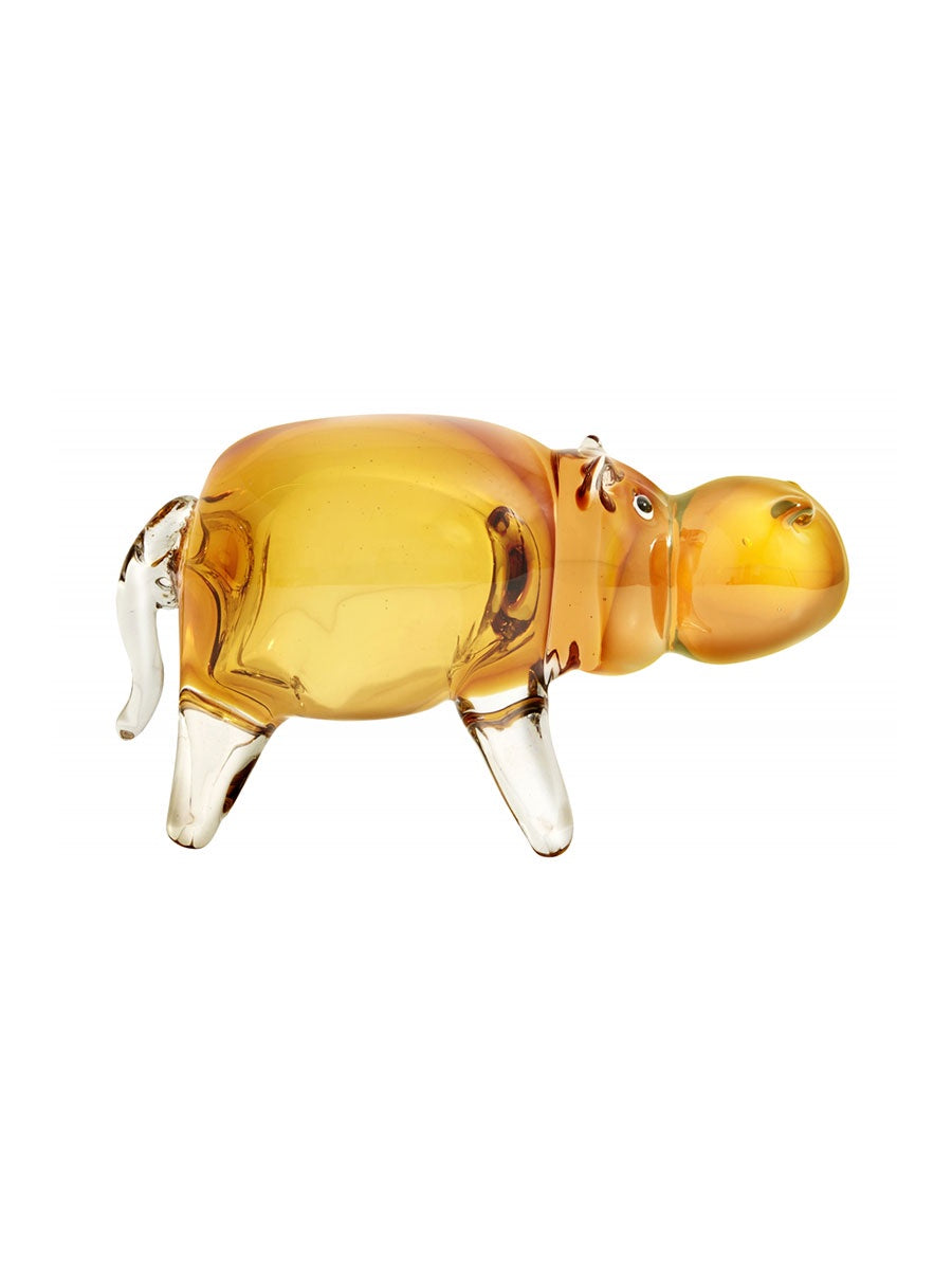 GLASS HIPPO ORNAMENT