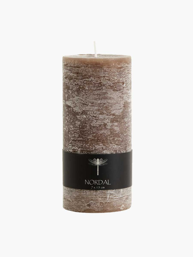 LARGE PILLAR CANDLE - BROWN