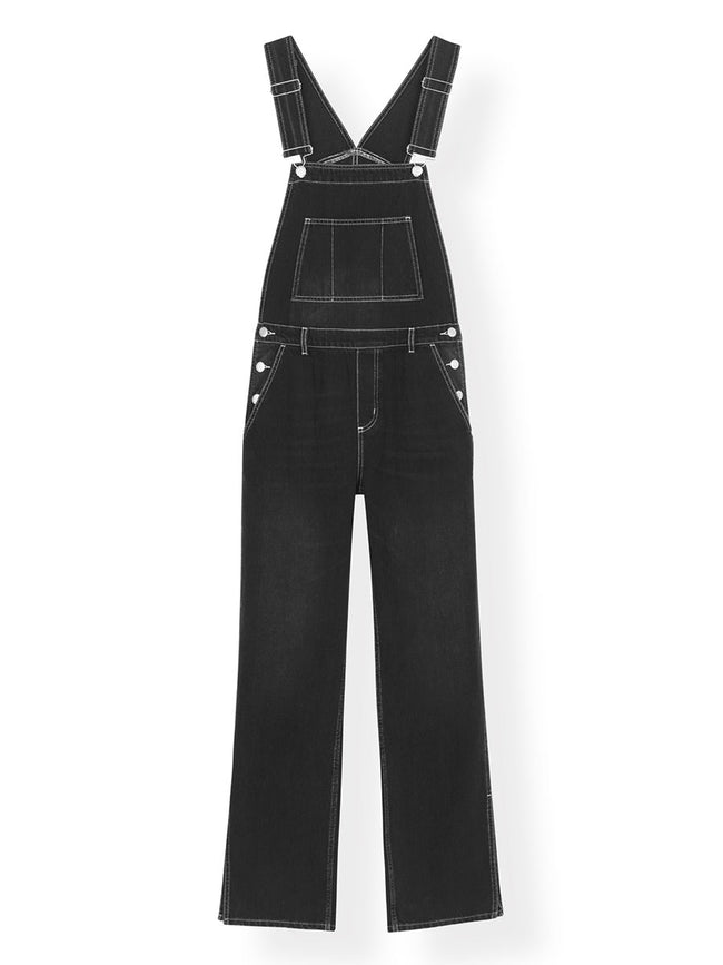 DENIM DUNGAREES WITH CONTRAST STITCH