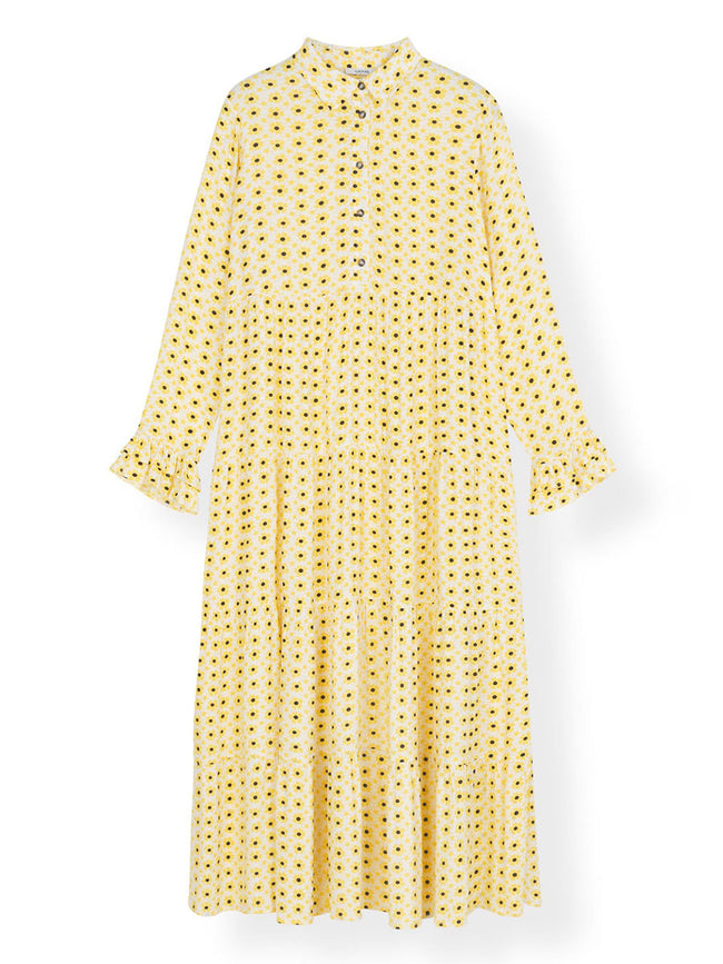 CREPE DOTTED LAYER DRESS